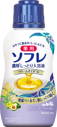薬用ソフレ 濃厚しっとり入浴液 ホワイトフローラルの香り